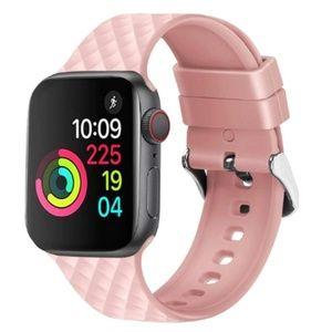 NEW PINK Rhomboid Silicone Band FOR Apple Watch